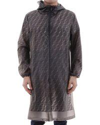 Fendi - Ff Print Raincoat - Lyst
