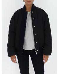 Jil Sander Oversize Bomber Jacket - Black