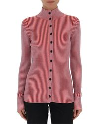 Proenza Schouler Ribbed Button-up Cardigan - Red