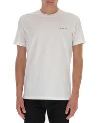 Marni Logo Printed T-shirt - White