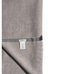 Brunello Cucinelli Fringed Hem Scarf - Grey