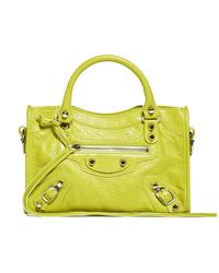 Balenciaga Classic City Mini Crossbody Bag - Yellow