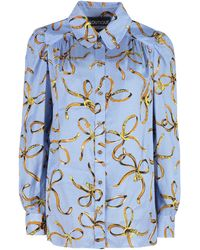 Boutique Moschino All-over Printed Top - Blue