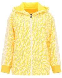 Fendi Reversible Full Zip Sweatshirt - Yellow