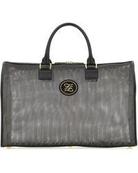 Fendi Karligraphy Travel Bag - Black