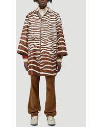Gucci Zebra Print Coat - Multicolour