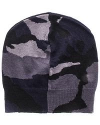 Valentino Camouflage Motif Beanie - Blue