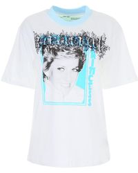 203a34f1 Off-White c/o Virgil Abloh Princess Diana Tribute Tee in Black - Lyst