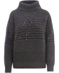 Brunello Cucinelli - Chunky Knitted Jumper - Lyst
