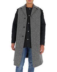 Maison Margiela Multi Wear Two Layer Coat - Multicolour