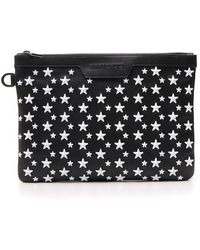Jimmy Choo Derek Star Studded Clutch Bag - Black