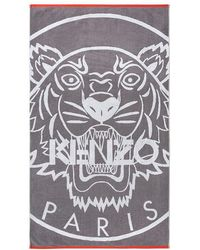 KENZO Iphone Tiger Beach Towel - Gray