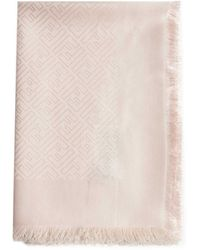 Fendi Ff Logo Silk And Wool Foulard - Multicolour