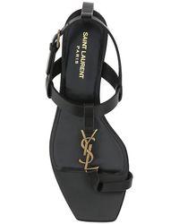 Saint Laurent Cassandra Flat Sandals - Black