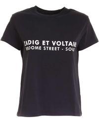 Zadig & Voltaire White Print T-shirt - Black