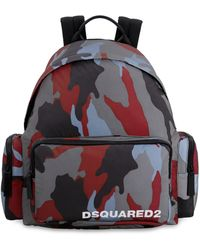 DSquared² Camouflage Printed Backpack - Multicolour