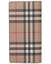 Burberry Vintage Check Continental Wallet - Natural