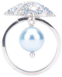 Miu Miu Crystal Embellished Star Ring - Metallic