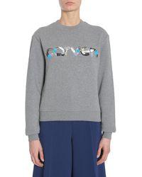 Carven Sequins Logo Sweatshirt - Gray