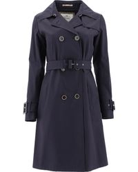 Herno Im0118d132189200 Cotton Trench Coat - Blue