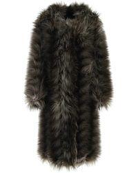Prada Multicolour Eco Fur Coat 40