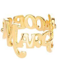 Marc Jacobs X New York Logo Stack Ring - Metallic