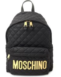 Moschino - Logo Quilted Backpack - Lyst