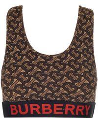 Burberry Monogram Printed Sports Bra - Brown