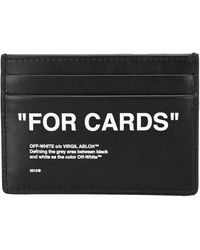 Off-White c/o Virgil Abloh Quote Print Cardholder - Black