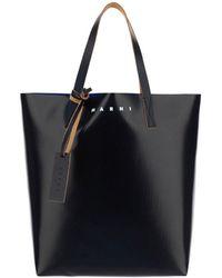 Marni Tribeca Two-tone Tote Bag - Black