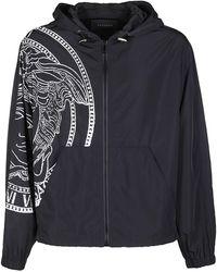 Versace Medusa Print Zipped Jacket - Black