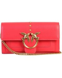 Pinko Love Simply Chain Wallet - Red