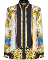 Versace Medusa Renaissance-printed Straight Hem Shirt - Multicolor