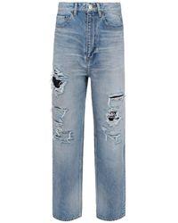 Balenciaga Ripped Regular Jeans - Blue