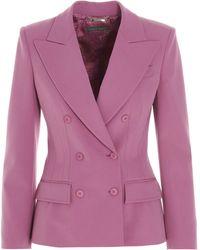 Alberta Ferretti Double-breasted Blazer - Purple