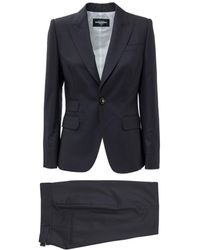 DSquared² Pinstripe Single-breasted Two-piece Suit - Blue