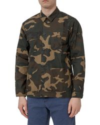 Carhartt WIP Michigan Camouflage Print Shirt - Multicolour