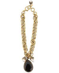 Alexander McQueen - Gem Embellished Link Bracelet - Lyst