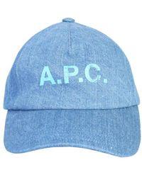 A.P.C. Eden Baseball Cap - Blue