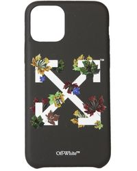 Off-White c/o Virgil Abloh Arrow Floral-print Iphone 11 Pro Phone Case - Black