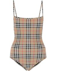 Burberry Printed Stretch Nylon Swimsuit Nd Donna - Multicolour