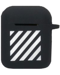 Off-White c/o Virgil Abloh Striped Print Airpods Case - Black