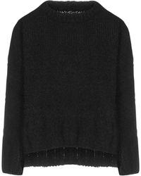 MM6 by Maison Martin Margiela Bow-detail Mohair-blend Jumper - Black