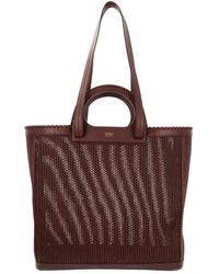 Max Mara Top Handle Tote Bag - Brown