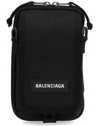 Balenciaga Explorer Logo Crossbody Bag - Black