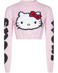 Gcds Hello Kitty Cropped Sweater - Pink