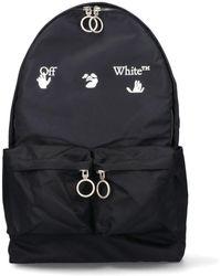 Off-White c/o Virgil Abloh Nylon Backpack With Logo Print Os Technical - Black