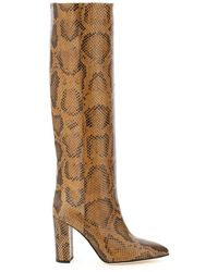 Paris Texas Python-print Boots 36 Leather - Brown