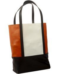 Plan C Colour Block Shopper Tote Bag - Multicolour