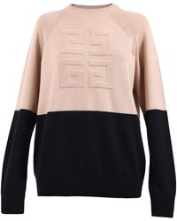 Givenchy 4g Emblem Two-tone Jumper - Multicolour